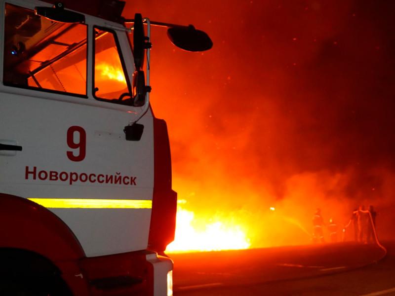 Пожарные борются с возгоранием камыша на плавнях в Анапе